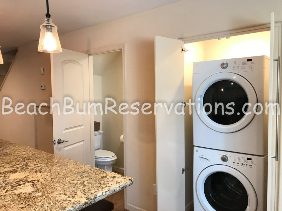 Washer and Dryer and Half Bath
