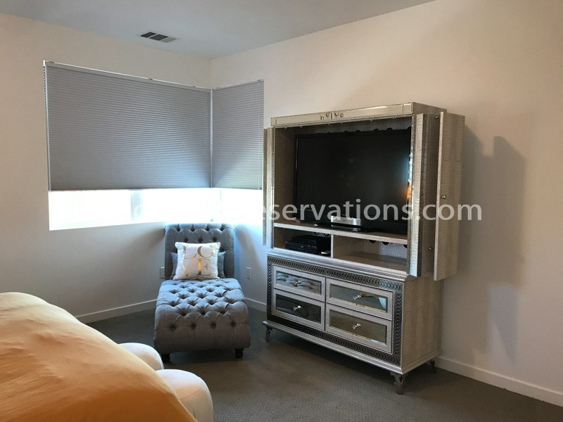 Master King Bedroom TV and Lounge Chair